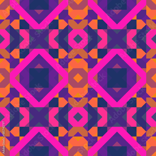 Cotton fabric Seamless geometric pattern