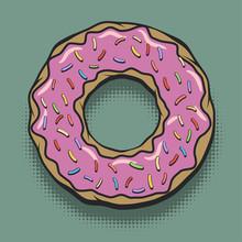 Glazed Donut Pop Art Poster
