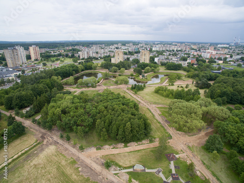 Foto op Aluminium Eiguliai district aerial view in Kaunas Lithuania