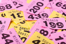 Lots Of Raffle Tickets Ready To Be Drawn