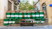 Green Line At Nicosia, Cyprus....