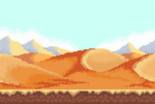 Pixel Background. Desert.