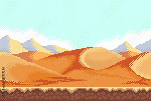 Photo Pixel background. Desert.