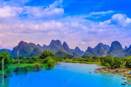Yangshuo Xingping Lijiang River natural landscape scenery Canvas Print
