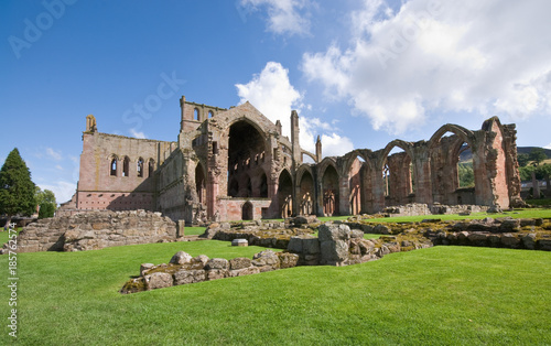 St Mary Melrose abbey , Scotland Canvas Print