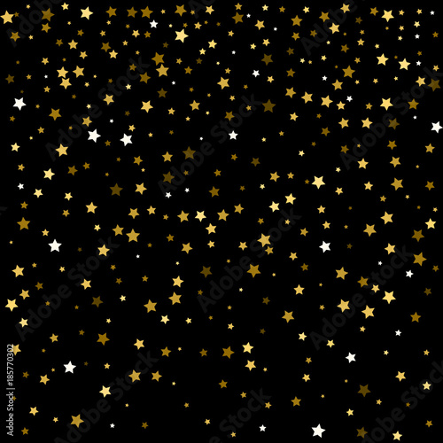 golden stars confetti celebration festive new year christmas magic background boho lights rich
