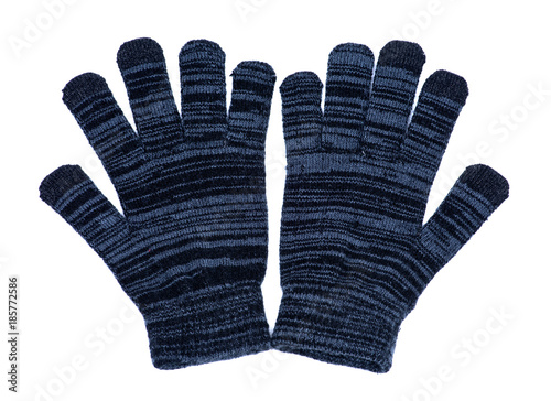 Fotografie, Obraz  Women's texting winter cold weather warm gloves isolated on white background