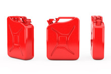 Red Metal Jerrycan With Free S...