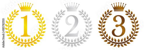Fotografija wreath frame ranking illustration set
