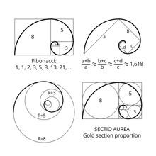 Golden Fibonacci Ratio Spirals...