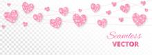 Pink Hearts Frame, Seamless Bo...