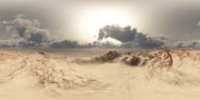 Panorama Of Desert At Sand Sto...