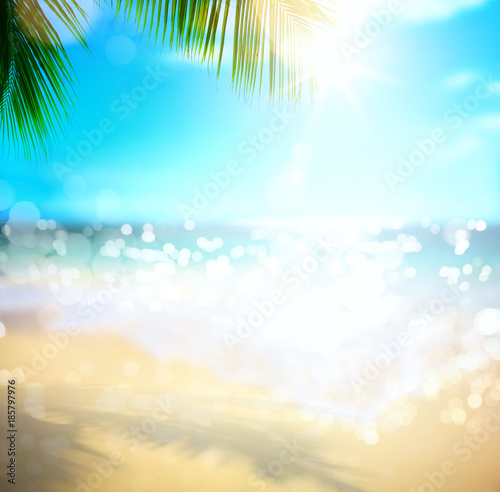 Foto op Aluminium Oceanië sea summer vacation; tropical beach background