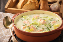 Potato Soup With Salmon And Le...