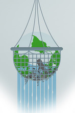 Illustration Of Earth Being Over-fished.