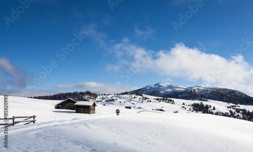 south tirol winter hiking travel landscape