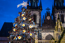Christmas Tree On Prague Old Town Square