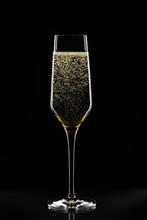 Champagne Glass On Black Backg...