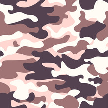 Modern Fashion Vector Trendy Camo Pattern.Classic Clothing Style Masking Camo Repeat Print. Brown Black Olive Colors Forest Texture. Design Element. Vector Illustration.