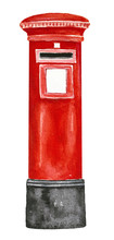 Red Color British Post Pillar ...