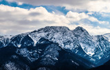 Zimowe góry panorama Zakopanego, Wysokie Tatry, Polska - 185846164