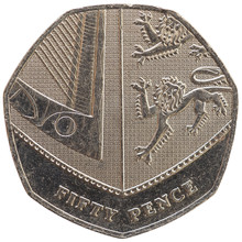 50 Pence Coin, United Kingdom ...