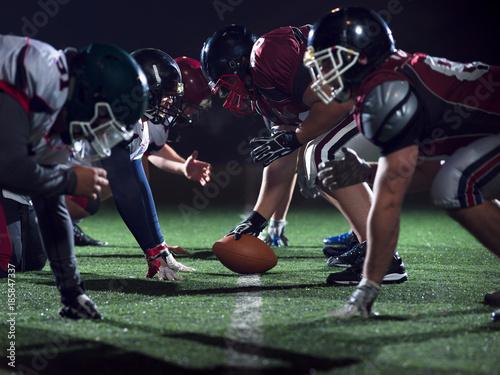 Obraz na płótnie american football players are ready to start