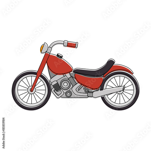 classic motorcycle vehicle icon Canvas Print