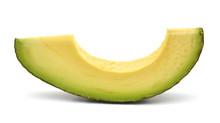Slice Of Avocado On White Background