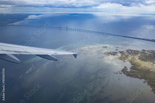 Oresund bridge seen from the plane Poster