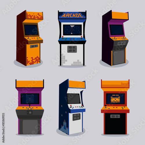 Arcade machine design Canvas Print