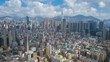 Aerial timelapse video of Hong Kong in daytime