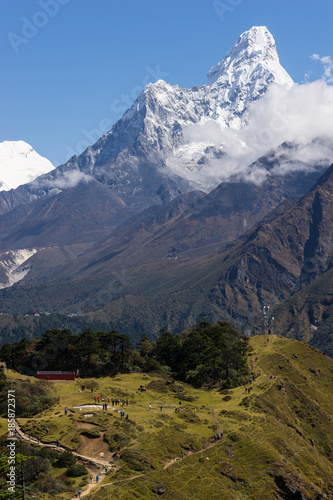 Ama Dablam mountain peak, Everest region, Nepal Poster