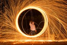 Fire Shower By Using Steel Woo...
