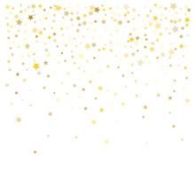 Gold Confetti Vector Design. P...