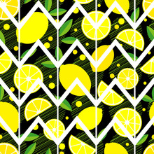 Seamless Background With Lemon...