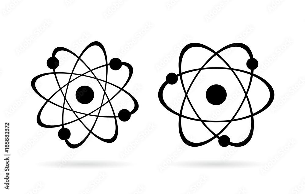 Fototapeta Atom vector icon set