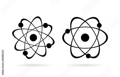 Atom vector icon set Fototapeta