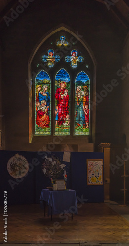 Photo Brechin Cathedral Scotland (Interior shot of Window)