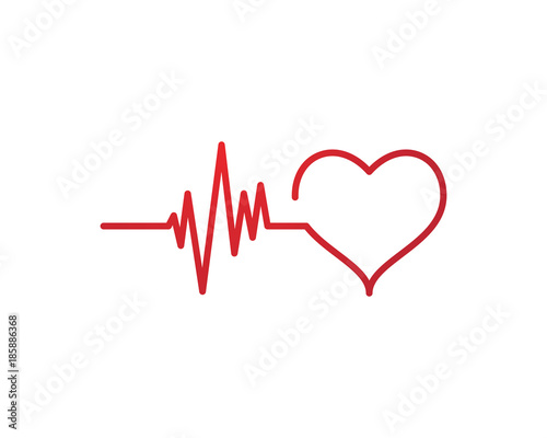 Fotografie, Tablou  Art design heartbeat pulse
