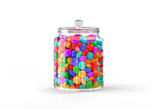 Candies Jar Of Multicolored On...