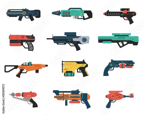 Photo Set of Futuristic Weapons
