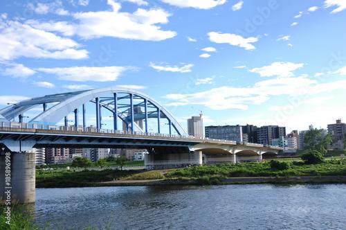 Staande foto Singapore 丸子橋と中原区