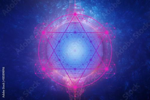Metatron´s Cube - cosmic energy field - flower of life Canvas Print
