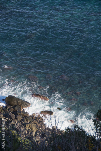 detail of the Ionian coast near Acireale in Sicily Canvas Print