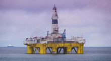 View Of Offshore Drilling Rig ...