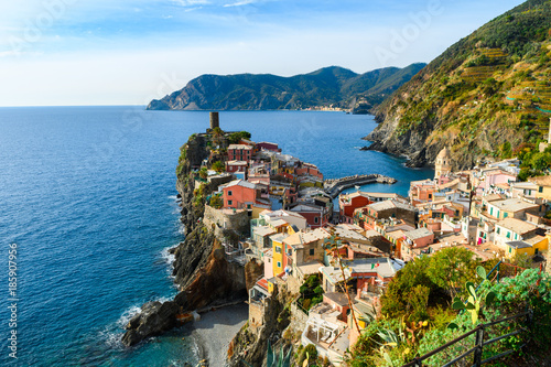 Fototapety, obrazy: beautiful town of vernazza, italy