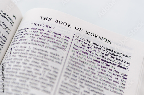 The Book Of Mormon, from the Church of Jesus Christ of Latter Day Saints Wallpaper Mural