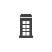 Telephone Box Icon Vector, Fil...