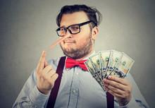 Man Having Illegally Earned Money